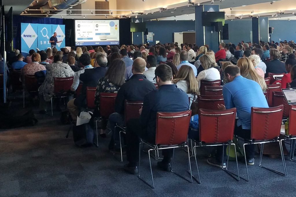 a crowded room at smx 2019