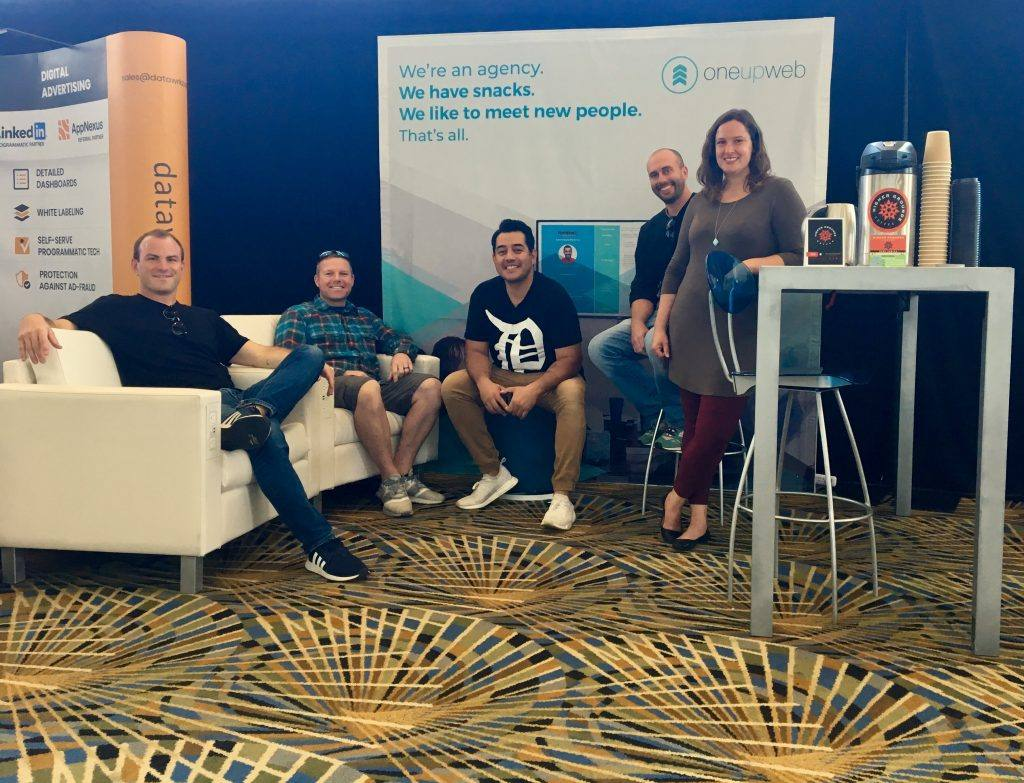group of oneupweb marketers at detroit digital summit 2018