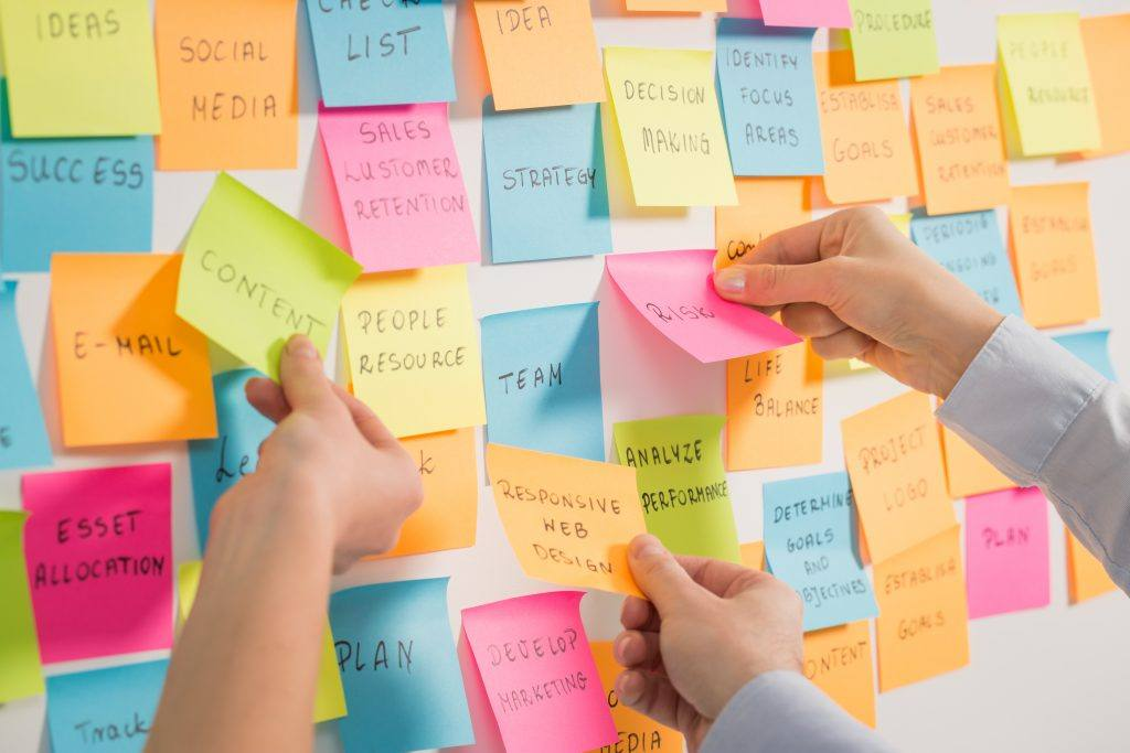 search engine optimization brainstorm post its