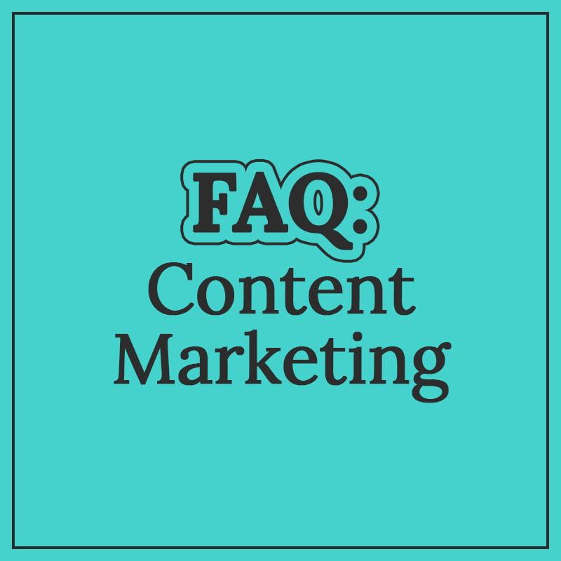 content marketing faq