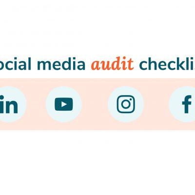 social media audit checklist