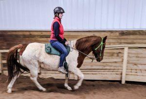 Oneupweb employee volunteering at reining liberty ranch