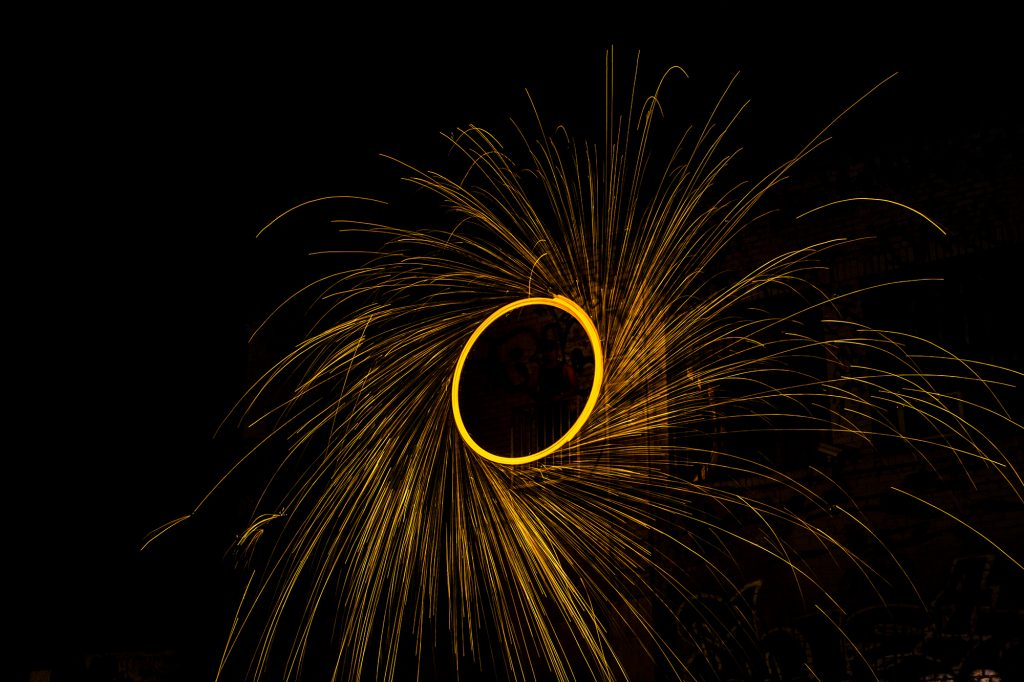 steel wool long exposure looks like a flywheel associated with inbound marketing