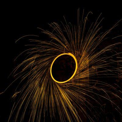 steel wool long exposure looks like a flywheel associated with inbound marketing