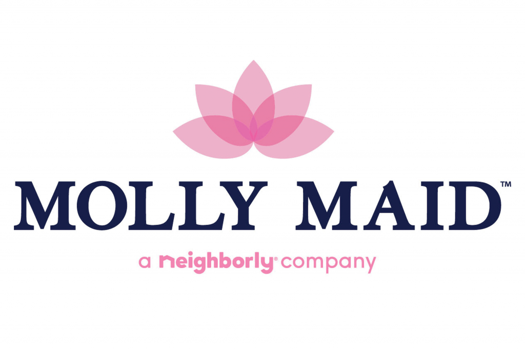 Molly Maid logo features a lotus and