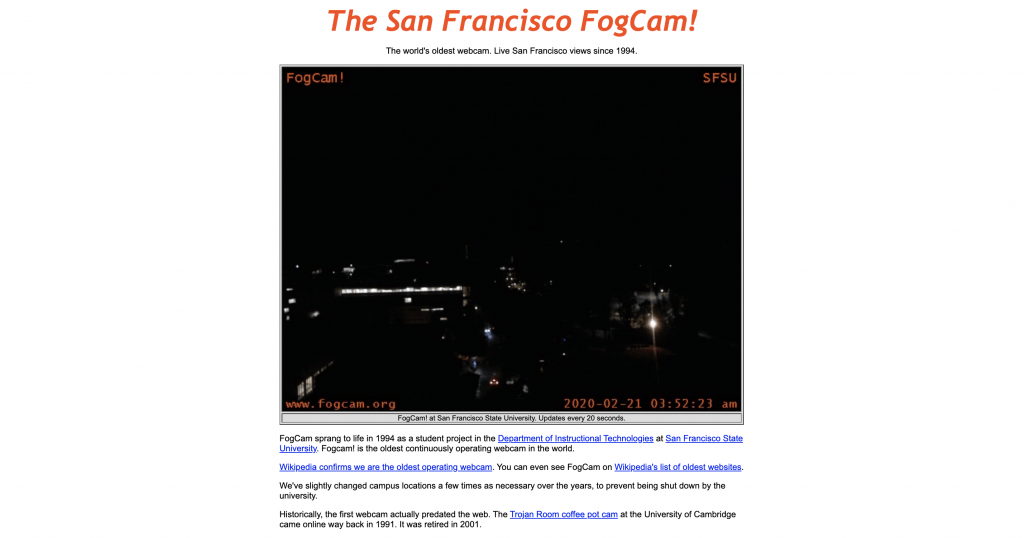 a screenshot of the currently running san francisco fog cam