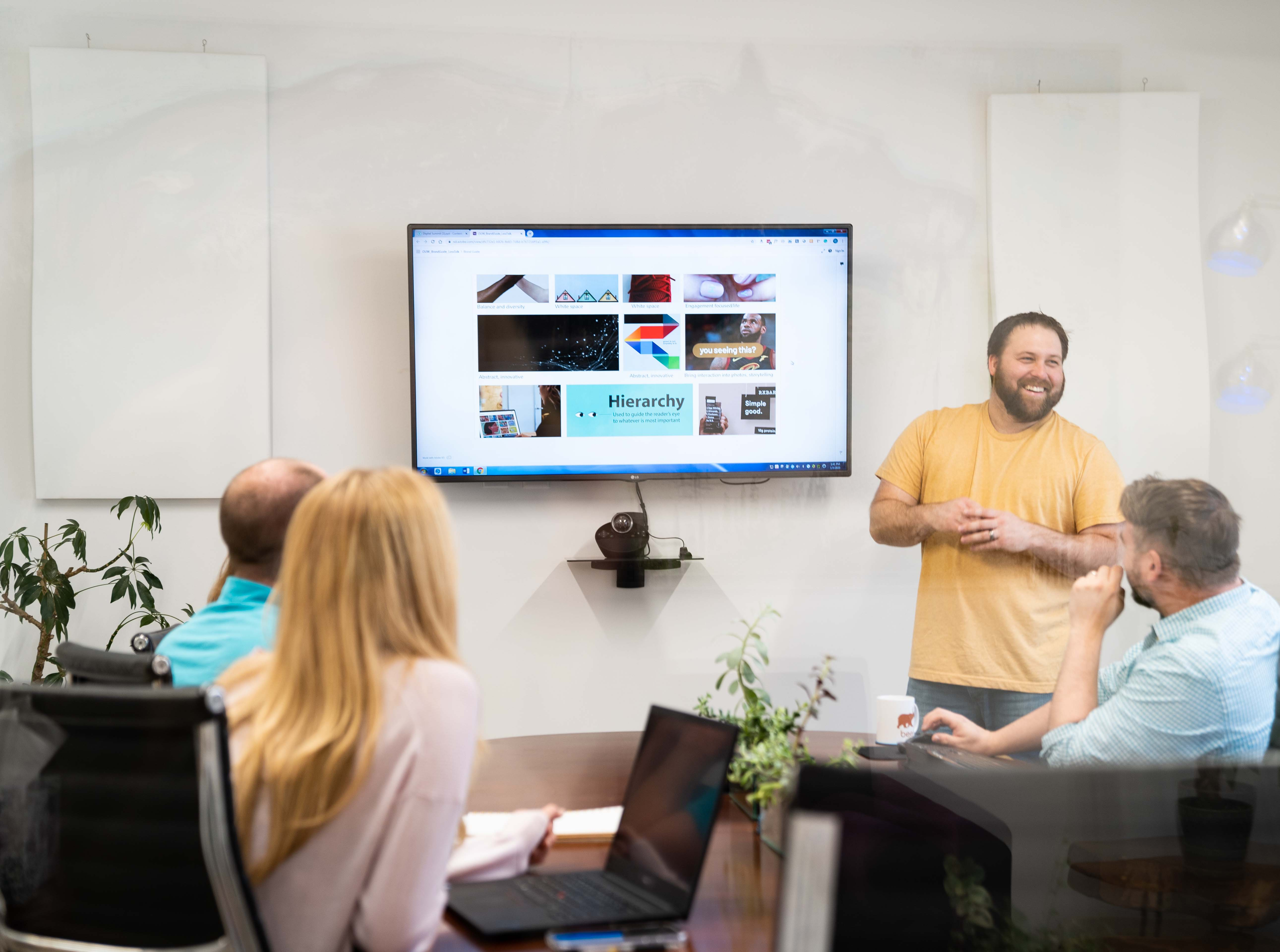 Oneupweb designer presents slideshow about information hierarchy on higher education websites