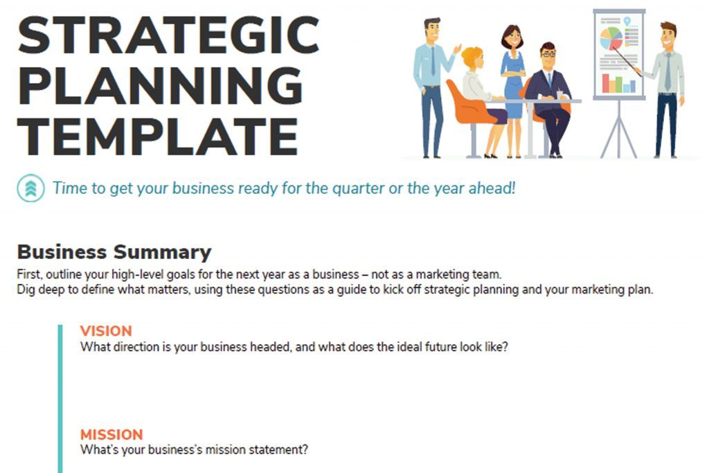 Strategic planning template title and introduction