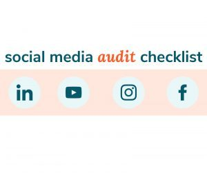 Graphic for social media audit checklist