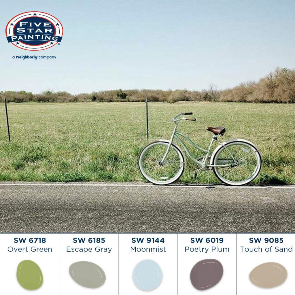 Early summer color palette from Five Star Painting