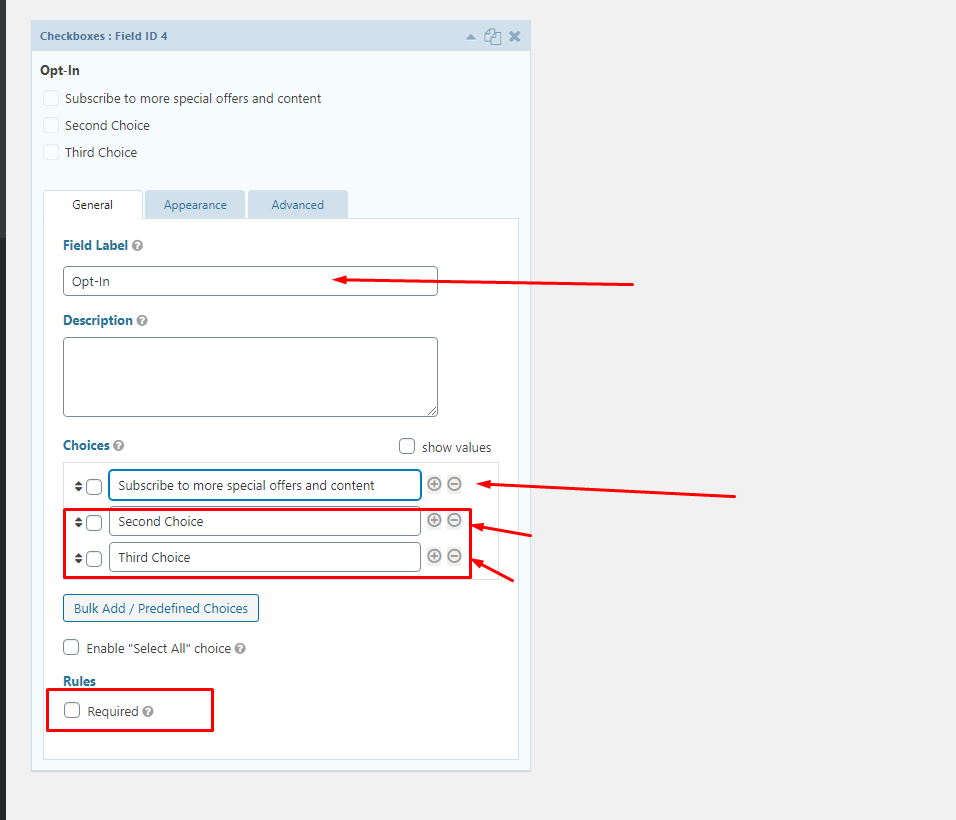 Creating checkbox form in Salesforce