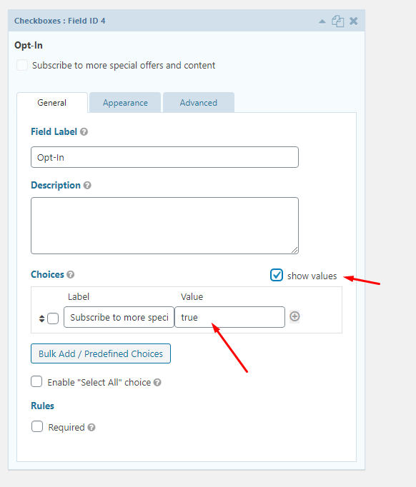 Adding checkboxes in Salesforce form