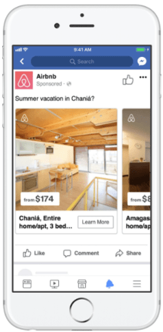 Mobile display ad for Airbnb