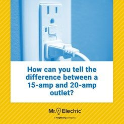 Mr. Electric graphic shows a plug plugged into an outlet with the question