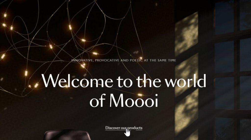 moooi website homepage