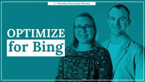 "a graphic image showing a man and woman overlayed in blue with text ""optimize for bing"""